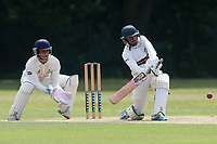 H Ayub in batting action for Ilford during Wanstead and Snaresbrook CC vs Ilford CC, Shepherd Neame Essex League Cricket at Overton Drive on 17th June 2017