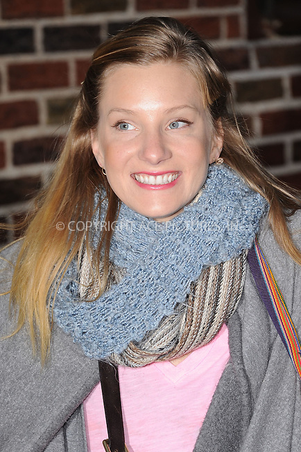 WWW.ACEPIXS.COM . . . . . .January 9, 2012...New York City....Heather Morris arrives to tape the Late Show with David Letterman on January 9, 2012 in New York City.....Please byline: KRISTIN CALLAHAN - ACEPIXS.COM.. . . . . . ..Ace Pictures, Inc: ..tel: (212) 243 8787 or (646) 769 0430..e-mail: info@acepixs.com..web: http://www.acepixs.com .