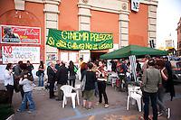Roma 5 Maggio 2011.Assemblea contro l'apertura  di un casino' alla sala del cinema Palazzo in Piazza dei Sanniti occupata  da associazioni e dal comitato di quartiere.