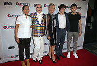 "LOS ANGELES, CA- James St. James, Trudie Styler, Alex Lawther, Ian Nelson, At 2017 Outfest Los Angeles LGBT Film Festival - Closing Night Gala Screening Of ""Freak Show"" at The Theatre at Ace Hotel, California on July 16, 2017. Credit: Faye Sadou/MediaPunch"