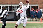 Wisconsin Badgers quarterback Alex Hornibrook (12) looks throws a pass during an NCAA College Big Ten Conference football game against the Illinois Fighting Illini Saturday, October 28, 2017, in Champaign, Illinois. The Badgers won 24-10. (Photo by David Stluka)