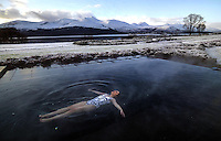 A photograph by Killarney photographer Don MacMonagle of Ciara Power floating in 38 degrees of warm water while all around her was frozen and covered in snow at the Europe Hotel &amp; Resort last year was chosen for a merit award at the annual press photographers awards at the weekend.<br /> Picture by Don MacMonagle