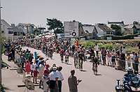 the forming of the first breakaway<br /> <br /> Stage 5: Lorient &gt; Quimper (203km)<br /> <br /> 105th Tour de France 2018<br /> &copy;kramon