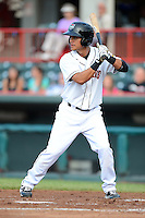 Erie Seawolves outfielder Luis Castillo #25 during a game against the Harrisburg Senators on July 2, 2013 at Jerry Uht Park in Erie, Pennsylvania.  Erie defeated Harrisburg 2-1.  (Mike Janes/Four Seam Images)