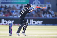 Matt Henry (New Zealand) is bowled by Mark Wood (England) during England vs New Zealand, ICC World Cup Cricket at The Riverside Ground on 3rd July 2019