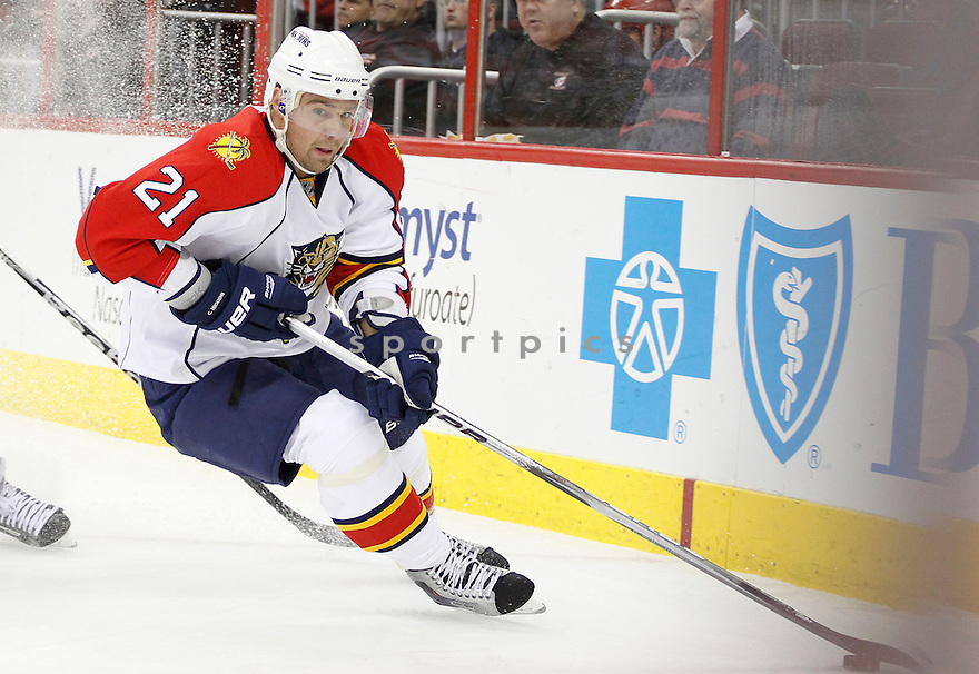 CHRIS HIGGINS, of the Florida Panthers in action during the Panthers game against the Carolina Hurricanes on March 1, 201, at the RBC Center in Raleigh, NC. The Hurricanes beat the Panthers 2-1.