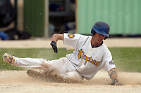 22 May 2009: Matthieu Brelle Andrade of Senart slides safely at home during the 2009 challenge de France, a tournament with the best French baseball teams - all eight elite league clubs - to determine a spot in the European Cup next year, at Montpellier, France.