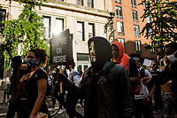 NEW YORK, NEW YORK - JUNE 1: Protesters walk in the middle of the street near Washington Square Park on June 1, 2020 in New York. The protests spread across the country in at least 30 cities across the United States, over the death of unarmed black man George Floyd at the hands of a police officer, this is the latest death in a series of police deaths of black Americans. Today is the first night of a curfew in New York City (Photo by Pablo Monsalve / VIEWpress via Getty Images)