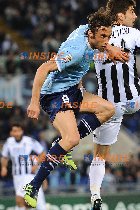 Stefano Mauri (Lazio).Roma, 02/05/2012 Stadio Olimpico.Football Calcio 2011/2012 .Lazio vs Siena 1-1.Campionato di calcio Serie A.Foto Insidefoto Antonietta Baldassarre