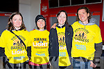 Cecily O'connell, Roisin Dunne, Eleanor Neff and Declan O'Shea at Nathan's walk Darkness into Light walk in aid of Pieta House in Killarney racecourse on Saturday