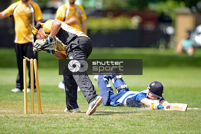 NELSON, NEW ZEALAND February 3: Wakatu CC v Nelson College, Car Company 50 Over Championship 2018, Victory Square, Nelson, New Zealand, February 3, 2018 (Photos by: Barry Whitnall/Shuttersport Ltd)