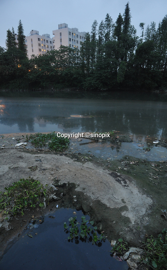 The Osram factory in Foshan, Guangdong Province, China, lies on a heavily polluted tributary of the Pearl River.  Osram makes light-bulbs, including energy saving light-bulbs that use mercury as the active component.
