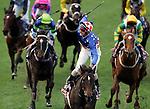 Australia's greatest race horse Makybe Diva adds the Cox Plate  Moonee Valley to her extensive list of wins, ridden by jockey Glenn Boss.