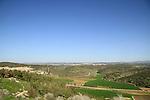 Israel, Shephelah, a view of Haelah valley from Tel Azekah