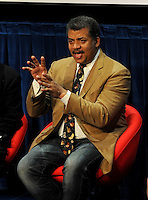 BEVERLY HILLS, CA - AUGUST 3: Neil DeGrasse Tyson during the Q&A panel at the Fox And National Geographic Channel Presents A Screening Of 'Cosmos: A Spacetime Odyssey' at The Paley Center for Media on August 3, 2014 in Beverly Hills, California. PGFM/Starlitepics