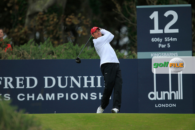 Rich Beem (USA) during Round 2 of the Alfred Dunhill Links Championship at Kingsbarns Golf Club on Friday 27th September 2013.<br /> Picture:  Thos Caffrey / www.golffile.ie