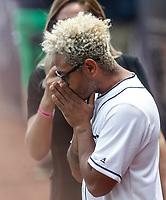 Kalimba.<br /> Acciones del partido de beisbol, Dodgers de Los Angeles contra Padres de San Diego, tercer juego de la Serie en Mexico de las Ligas Mayores del Beisbol, realizado en el estadio de los Sultanes de Monterrey, Mexico el domingo 6 de Mayo 2018.<br /> (Photo: Luis Gutierrez)
