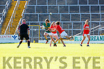 Emma Sherwood Kerry goes past Brid O'Sullivan Cork during their Munster Championship clash in Fitzgerald Stadium on Saturday evening