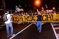 RIO DE JANEIRO, RJ, 11 DE JULHO DE 2013 -MANIFESTAÇÃO PALÁCIO GUANABARA- Manifestantes se concentram em frente ao Palácio Guanabara, sede do governo, em protesto contra o governador Sérgio Cabral, em Laranjeiras, zona sul do Rio de Janeiro.FOTO:MARCELO FONSECA/BRAZIL PHOTO PRESS