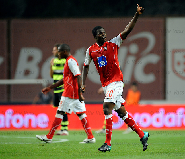 Elderson celebrates his goal for Braga