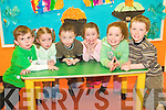 Double trouble: Twins Caoimhe and Mark O'Connor (3), James and Elida Buckley (4) and Aoife and Darragh Scanlon (4) are all from Lisselton and attending pre-school in Tir na nOg Ballybunion.