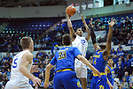January 14, 2017:  Air Force forward, Lavelle Scottie #12, takes shot during the NCAA basketball game between the San Jose State Spartans and the Air Force Academy Falcons, Clune Arena, U.S. Air Force Academy, Colorado Springs, Colorado.  San Jose State defeats Air Force 89-85.