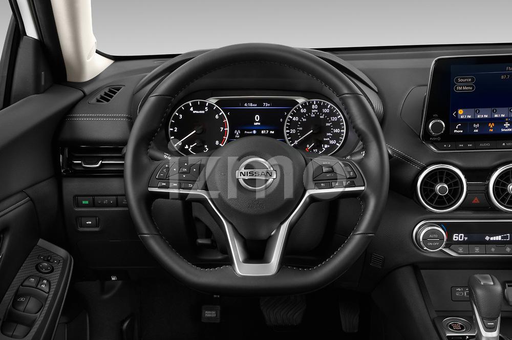 Car pictures of steering wheel view of a 2020 Nissan Sentra SV 4 Door Sedan Steering Wheel