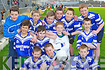 Aghatubrid NS, Caherciveen pupils who participated in the Cumann na mBunscoil County mini-sevens finals in Fitzgerald Stadium, Killarney on Friday front row: Ronan Quinlan, Ian Moriarty, Robert Wharton. Middle row: Muiris Fitzgerald, Adrian O'Sullivan, Stephen Corcoran, Jim Sugrue. Back row: Blaine McCarthy, Eoghan McDaid, Donnagh Quinlan, Michael O'Leary, Liam Sugrue and Bryan Corcoran....