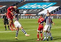 Fulham's Aleksandar Mitrovic (left) head at goal <br /> <br /> Photographer Andrew Kearns/CameraSport<br /> <br /> The EFL Sky Bet Championship - West Bromwich Albion v Fulham - Tuesday July 14th 2020 - The Hawthorns - West Bromwich <br /> <br /> World Copyright © 2020 CameraSport. All rights reserved. 43 Linden Ave. Countesthorpe. Leicester. England. LE8 5PG - Tel: +44 (0) 116 277 4147 - admin@camerasport.com - www.camerasport.com