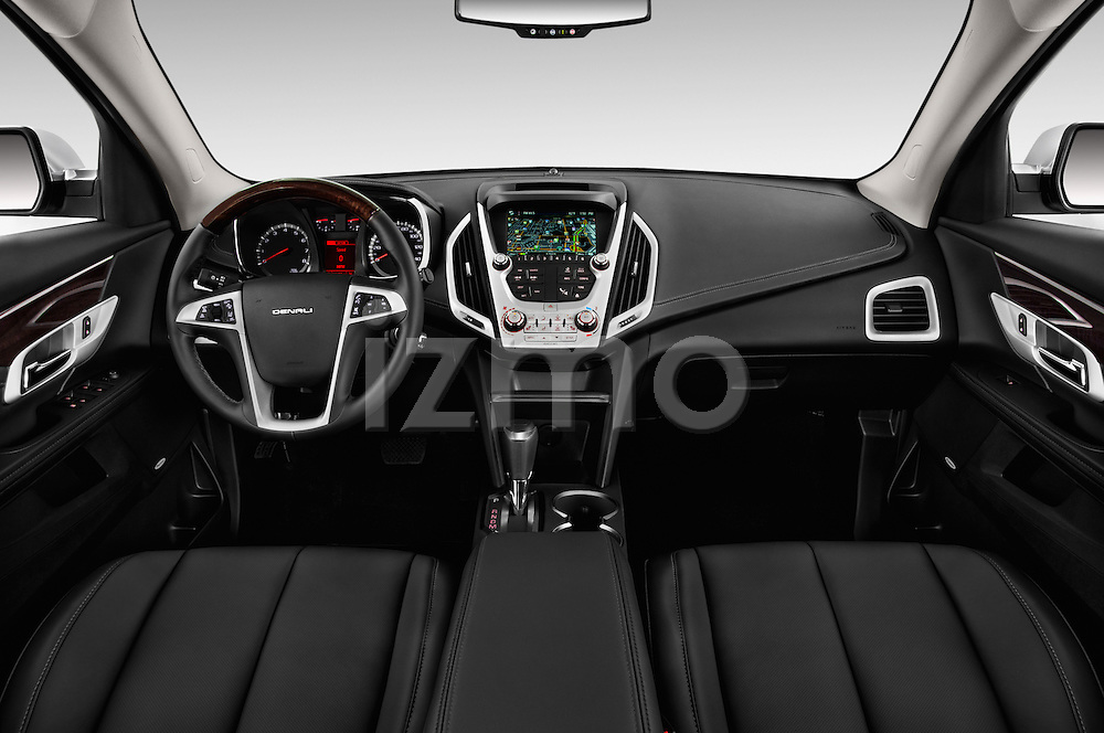 Stock photo of straight dashboard view of 2016 GMC Terrain Denali 5 Door SUV Dashboard