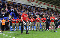 PICTURE BY VAUGHN RIDLEY/SWPIX.COM - Rugby League - 2013 International Origin - England v Exiles - Halliwell Jones Stadium, Warrington, England - 14/06/13 - Match Ball delivery.