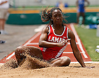 Tamia Washington of Lamar Univ. placed 4th. in the long jump @ the Michael Johnson Classic @ Baylor Univ., Waco, Texas on Saturday, April 21, 2007. Photo by Errol Anderson, The Sporting Image.