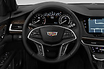 Car pictures of steering wheel view of a 2019 Cadillac CT6 Luxury 4 Door Sedan Steering Wheel