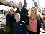Sharon Devine, Carlo Hehir, Danny Hehir and Sylvana Cretano pictured aboard the tallships. Photo:Colin Bell/pressphotos.ie