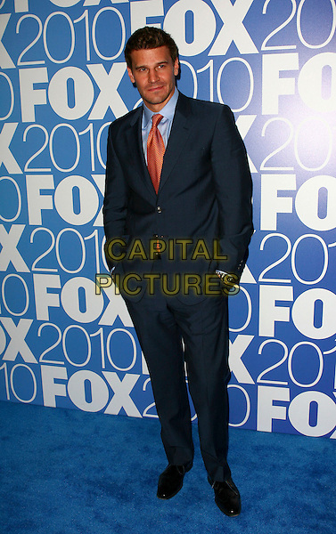 DAVID BOREANAZ.The 2010 FOX Upfront after party at Wollman Rink, Central Park, New York City, NY, USA..May 17th, 2010.full length black red tie blue suit hands in pockets .CAP/ADM/PZ.©Paul Zimmerman/AdMedia/Capital Pictures.