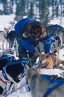M.Buser camp at Cripple ckpt 1996 Iditarod