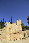 Israel, Jerusalem, Pools of Bethesda by the Church of St. Anne, ruins of the Crusader Chapel