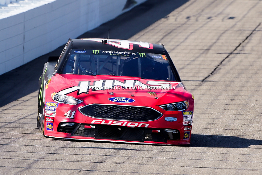July 16, 2017 - Loudon, New Hampshire, U.S. - Kurt Busch, Monster Energy NASCAR Cup Series driver of the Haas Automation/Monster Energy Ford (41), races at the NASCAR Monster Energy Overton's 301 race held at the New Hampshire Motor Speedway in Loudon, New Hampshire. Eric Canha/CSM