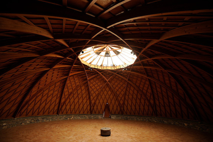 The Lindisfarne Chapel at the Crestone Mountain Zen Center is a wooden dome 60-feet in diameter, and 24-feet high. Michael Brands for The New York Times.