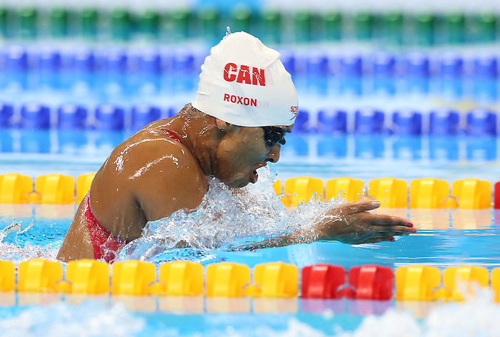 Rio de Janeiro-14/9/2016- Canadian swimmer Katarina Roxon competes in the women's 100m butterfly at the Olympic Aquatic Centre during the 2016 Paralympic Games in Rio. Photo Scott Grant/Canadian Paralympic Committee