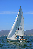 The sail boat participates in 2009 Regatta    of the coast of La Cruz Mexico.
