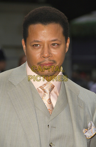 "TERRANCE HOWARD .Arriving at the ""Iron Man"" UK film premiere at the Odeon Leicester Square, London, England, 24th April 2008..portrait headshot grey gray suit tie .CAP/CAS.©Bob Cass/Capital Pictures"