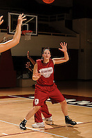 Stanford, CA - SEPTEMBER 30:  Forward Sarah Boothe #42 of the Stanford Cardinal during Stanford's practice on September 30, 2008 at Maples Pavilion in Stanford, California.