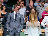 Eddie Redmayne at Centre Court for the Gentlemen's Singles Final<br /> <br /> Photographer Ashley Western/CameraSport<br /> <br /> Wimbledon Lawn Tennis Championships - Day 13 - Sunday 16th July 2017 -  All England Lawn Tennis and Croquet Club - Wimbledon - London - England<br /> <br /> World Copyright &copy; 2017 CameraSport. All rights reserved. 43 Linden Ave. Countesthorpe. Leicester. England. LE8 5PG - Tel: +44 (0) 116 277 4147 - admin@camerasport.com - www.camerasport.com
