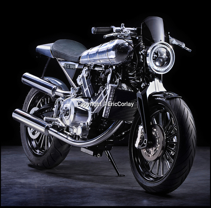 BNPS.co.uk (01202 55883)<br /> Pic: EricCorlay/BNPS<br /> <br /> ***Please Use Full Byline***<br /> <br /> British icon back from the dead - The legendary Brough Superior rides again.  <br /> <br /> The first motorbikes to be made by the legendary Brough Superior marque in over 70 years are set to be rolled out onto British roads.<br /> <br /> The legendary British manufacturers of the 'Rolls Royce' of motorcycles are nearing completion of 300 brand new machines after a businessman bought the rights to the Brough Superior name in 2008.<br /> <br /> Mark Upham has already secured dozens of orders for the &pound;50,000 modern-day replicas of the vintage Brough Superior SS100 bikes that were the fastest machines in the world in the 1930s.<br /> <br /> The new gleaming models have a 1,000cc V-twin engine and a whopping 140bhp. They look almost indentical to the classic Brough bikes and have the same iconic 'saddle' petrol tank and speedo.