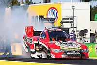 Mar 15, 2015; Gainesville, FL, USA; NHRA funny car driver Chad Head during the Gatornationals at Auto Plus Raceway at Gainesville. Mandatory Credit: Mark J. Rebilas-