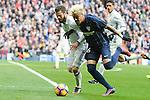 Real Madrid's Nacho Fernandez and Malaga CF's Adalberto Peñaranda Maestre during La Liga match between Real Madrid and Malaga CF at Santiago Bernabeu Stadium in Madrid, Spain. January 21, 2017. (ALTERPHOTOS/BorjaB.Hojas)