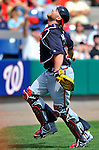 4 March 2011: Atlanta Braves catcher Brian McCann in action during a Spring Training game against the Washington Nationals at Space Coast Stadium in Viera, Florida. The Braves defeated the Nationals 6-4 in Grapefruit League action. Mandatory Credit: Ed Wolfstein Photo