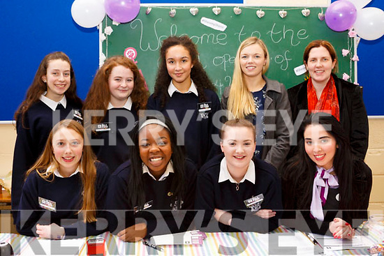 Launching the Presentation Secondary School Tralee&rsquo;s &quot;Bank 4 Women&quot; on Thursday last. Front l-r, Rachel Kilgallan, Zainab Lawal, Bronagh Foley and Juliet Harrington (AIB Tralee).<br /> Standing l-r, Orlaith O&rsquo;Brien, Leah Canty, Doireann Thomas, Laura Boyle and Moira O&rsquo;Connor.