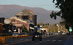 The late evening sun sets on downtown Minden, Nev. on Tuesday, June 14, 2011. .Photo by Cathleen Allison